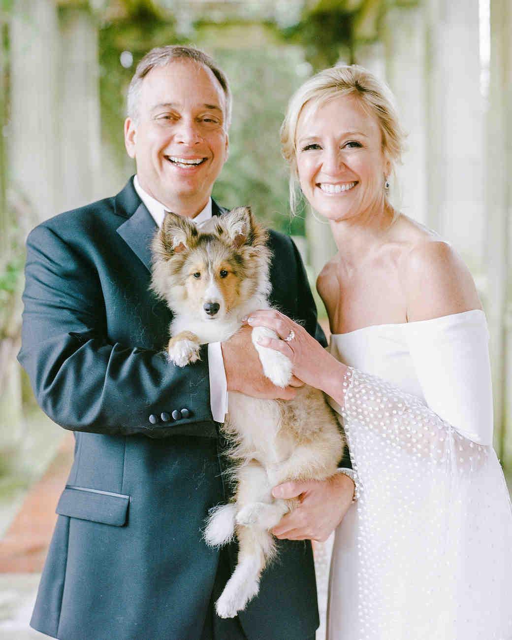michelle robert wedding couple dog