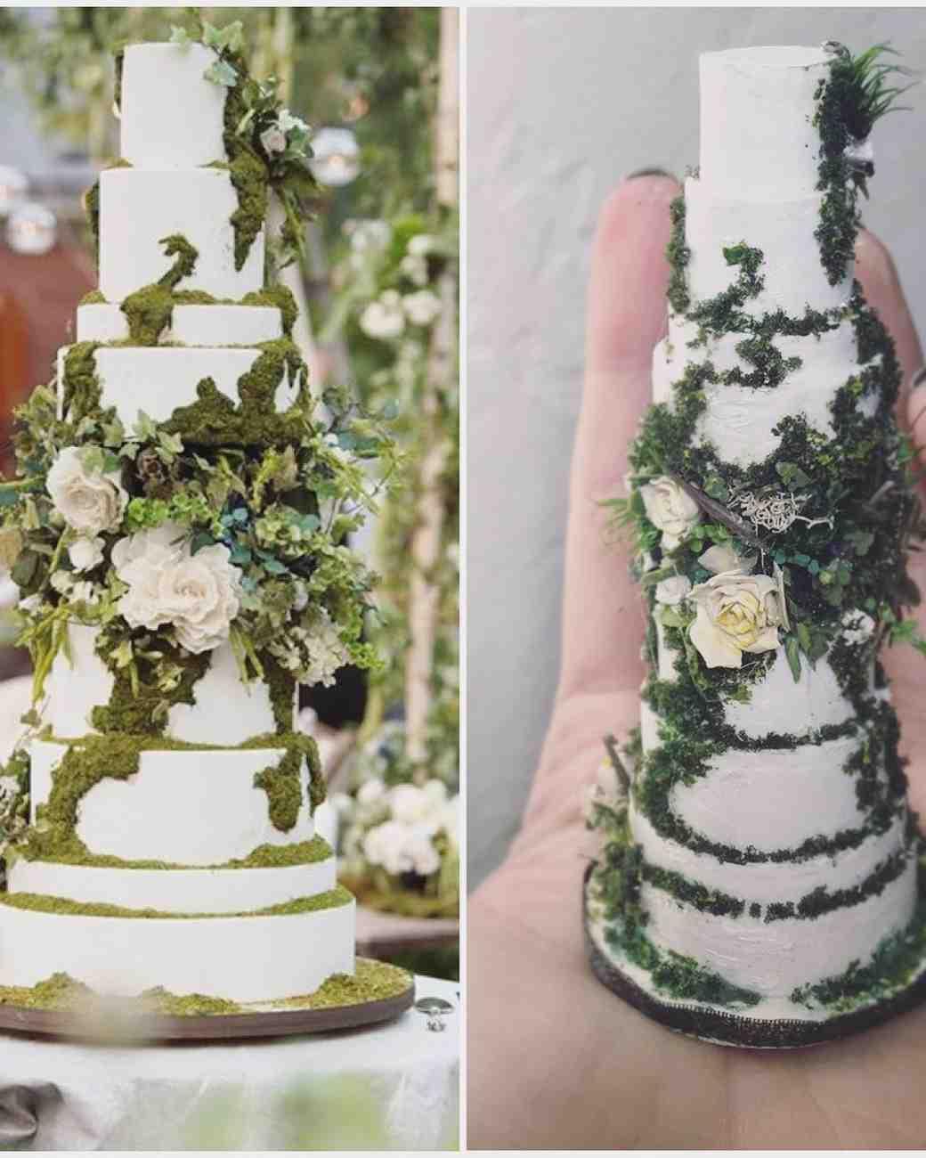Ivy-inspired wedding cake
