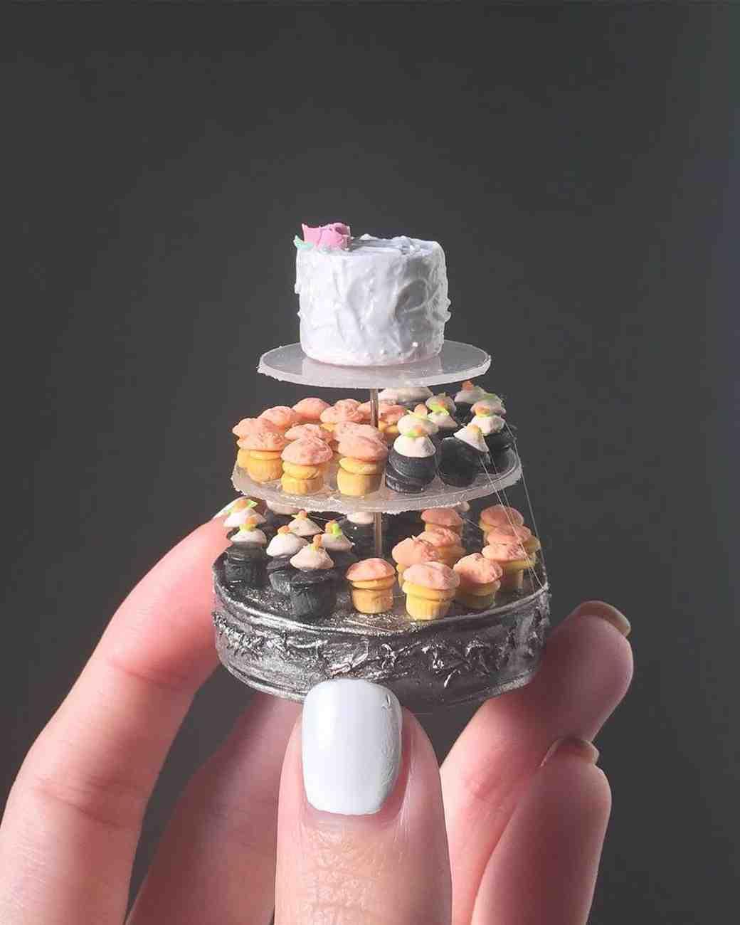 miniature cupcake tower