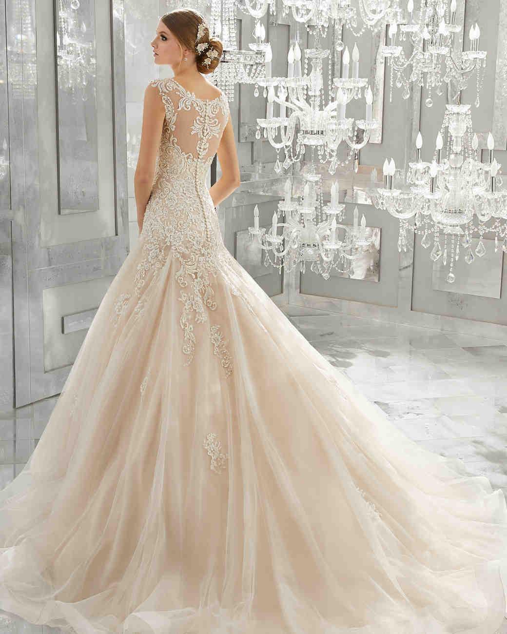 morilee wedding dress spring 2018 blush embroidered trumpet