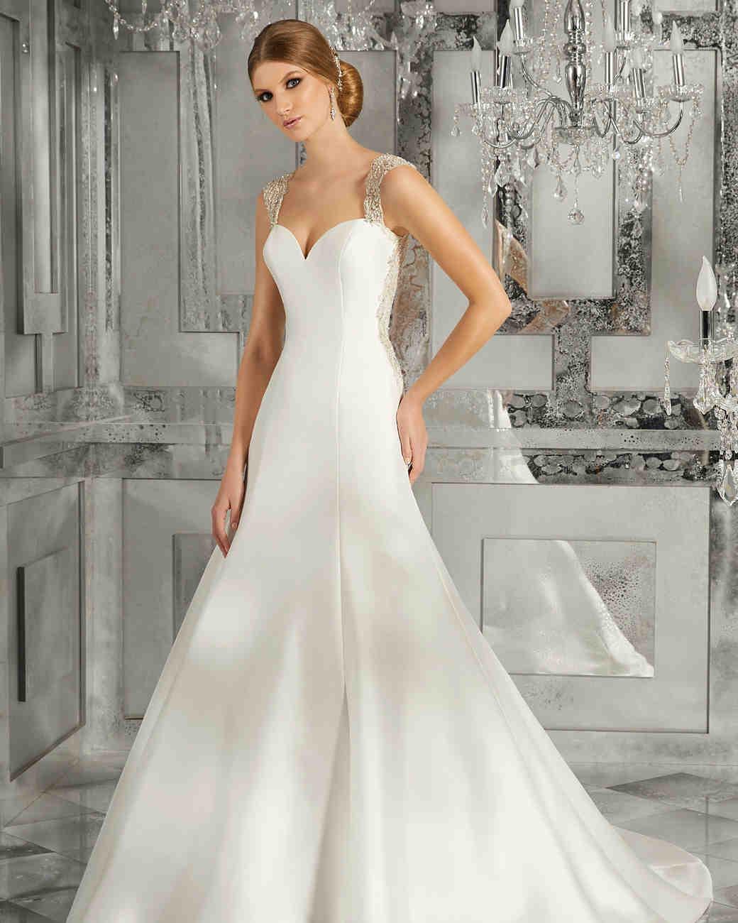 morilee wedding dress spring 2018 sweetheart embellished straps