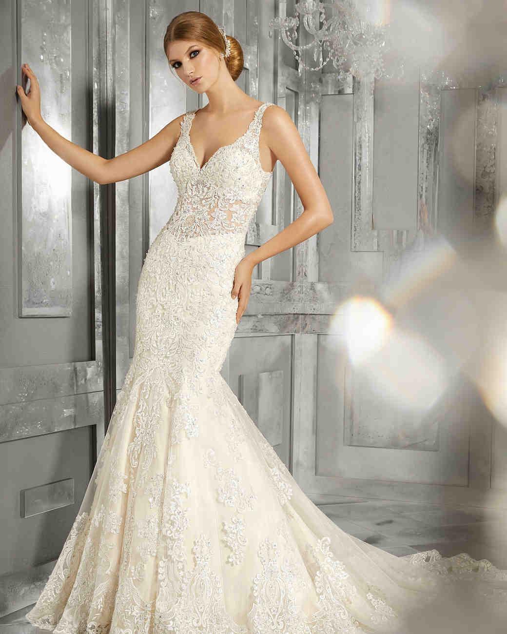 morilee wedding dress spring 2018 v-neck embellished trumpet