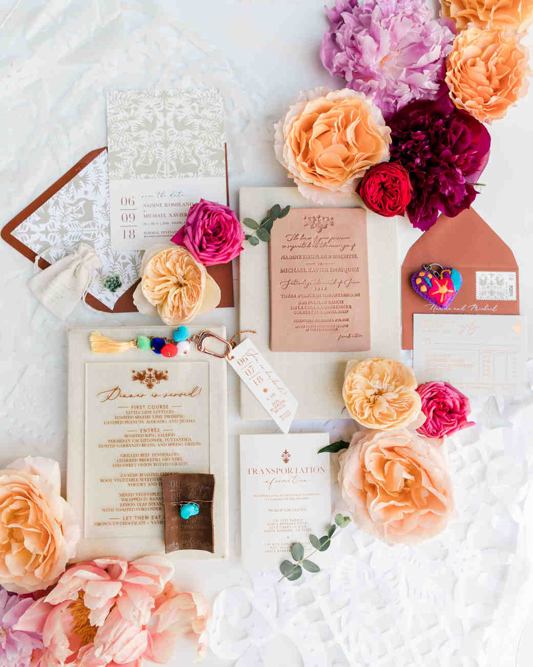 multi-designed wedding stationary