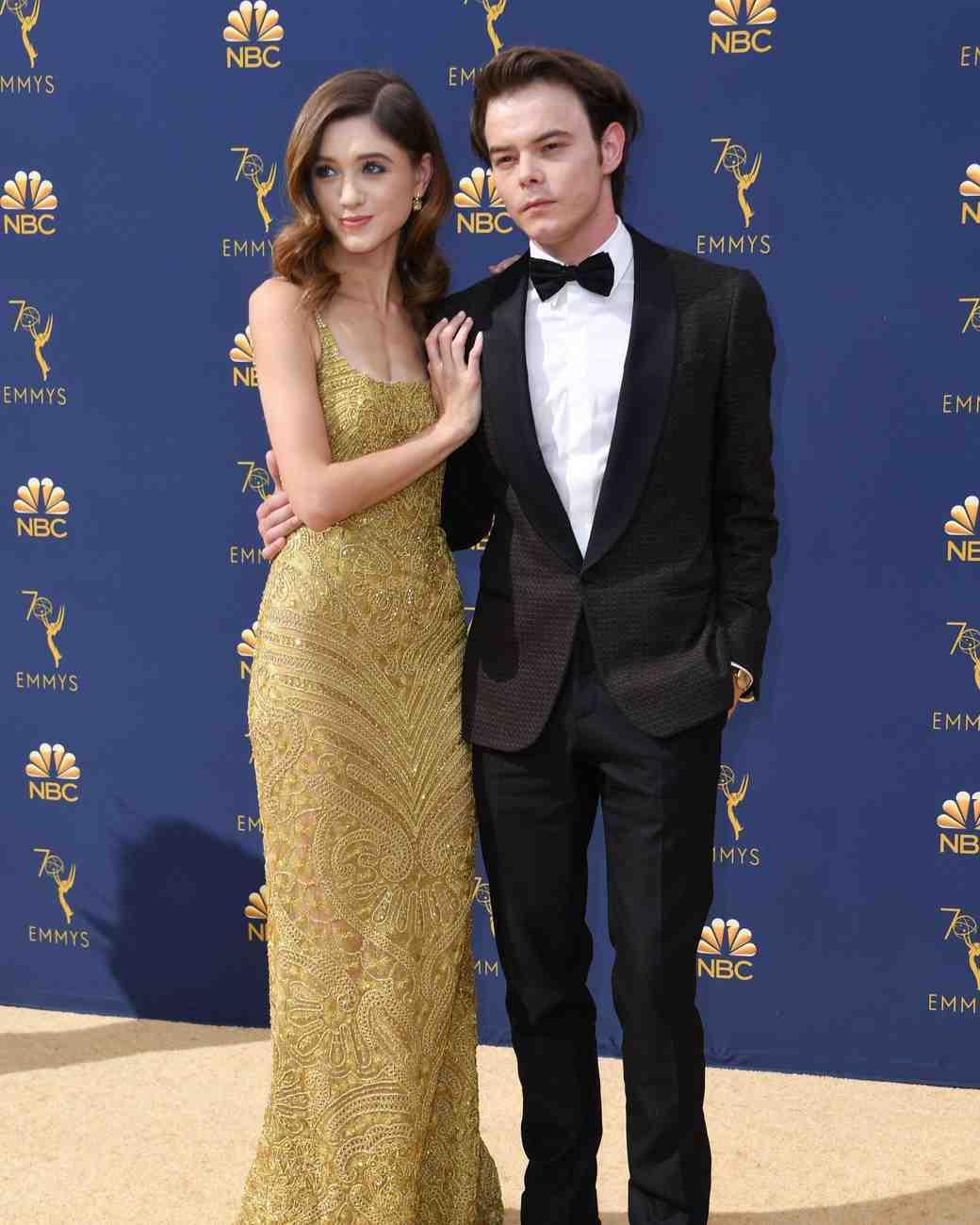Natalia Dyer and Charlie Heaton Emmys 2018