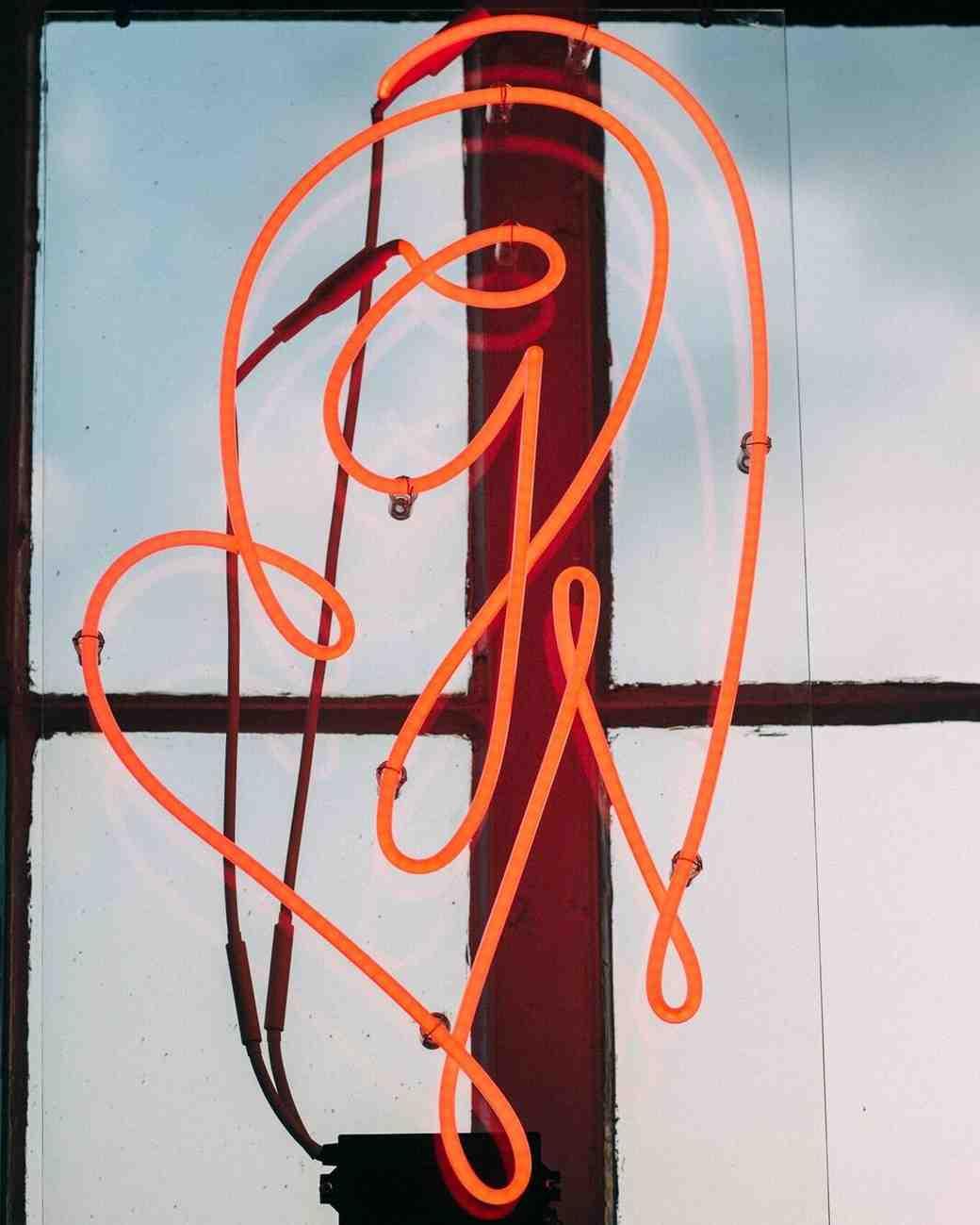 monogram neon sign