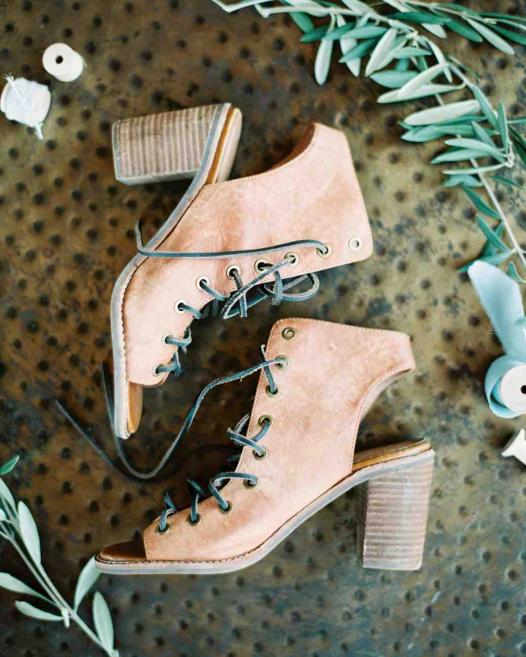 leather wedding shoes