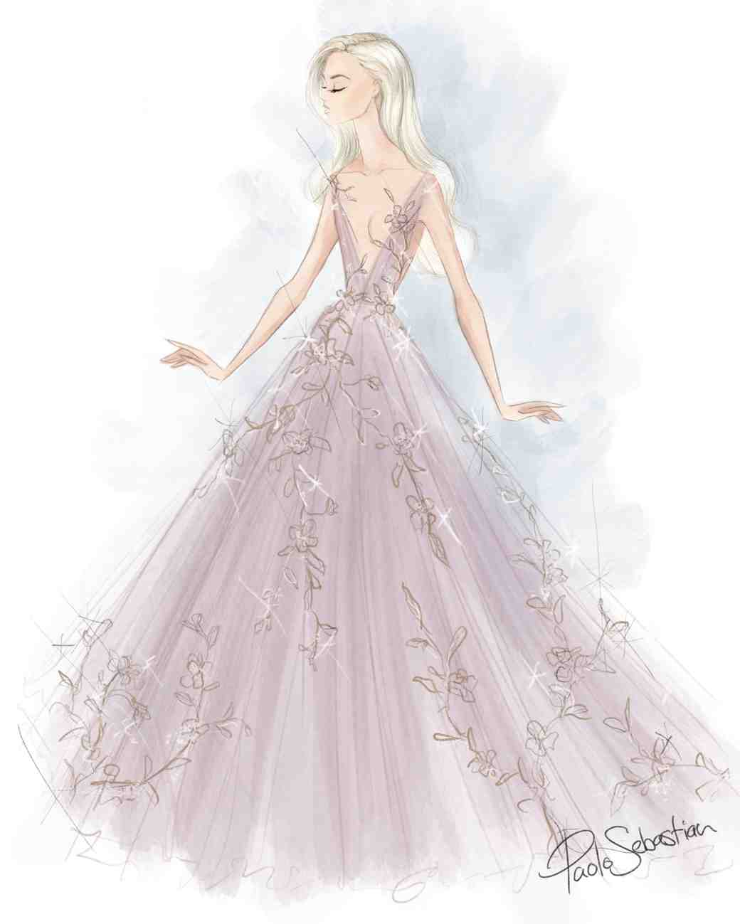 paolo sebastian wedding dress sketch