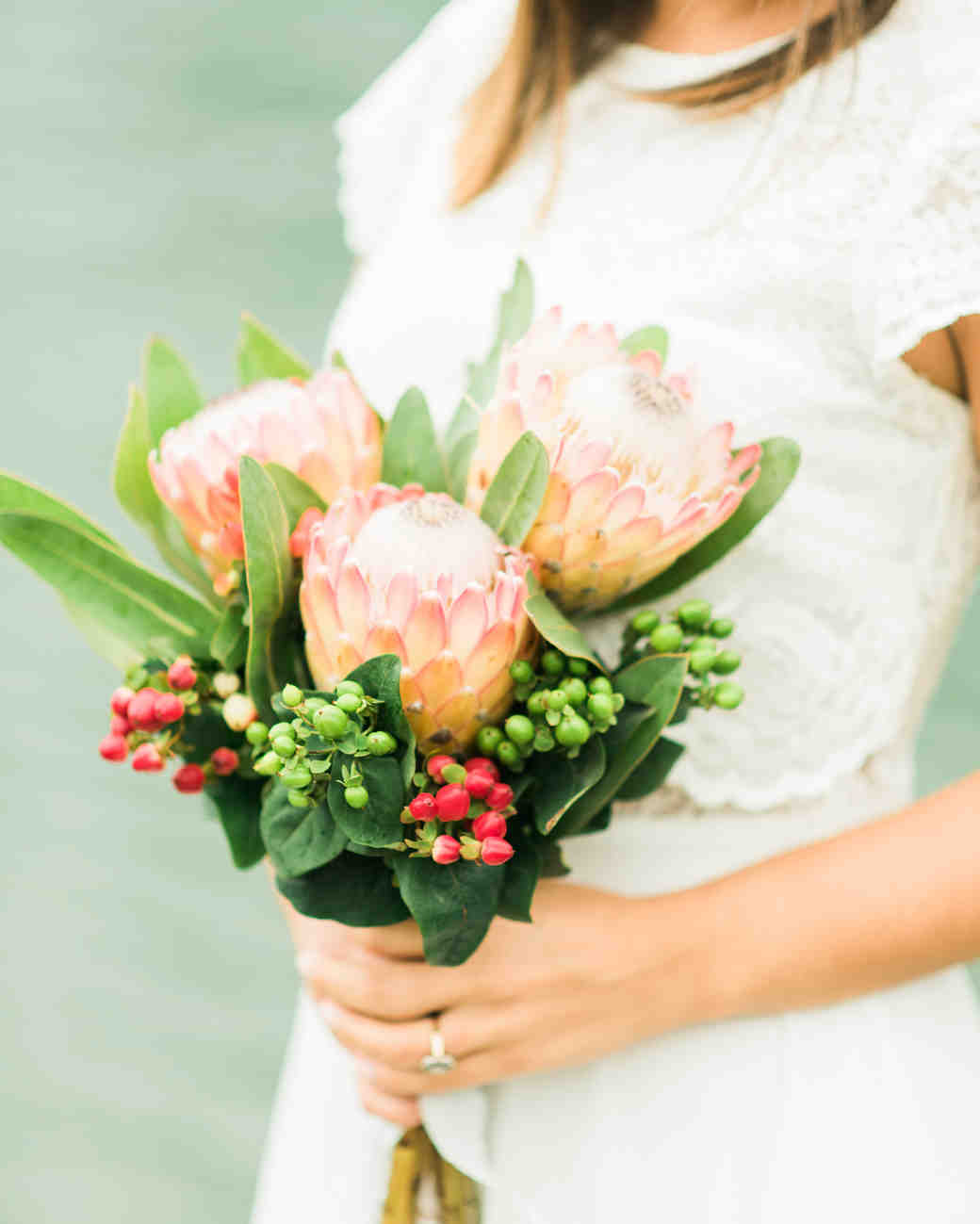protea wedding bouquets adriana morais