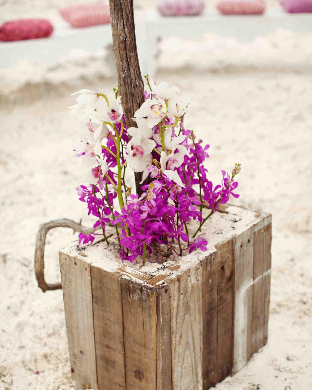 A Coral-Colored Beach Wedding in the Bahamas | Martha Stewart Weddings