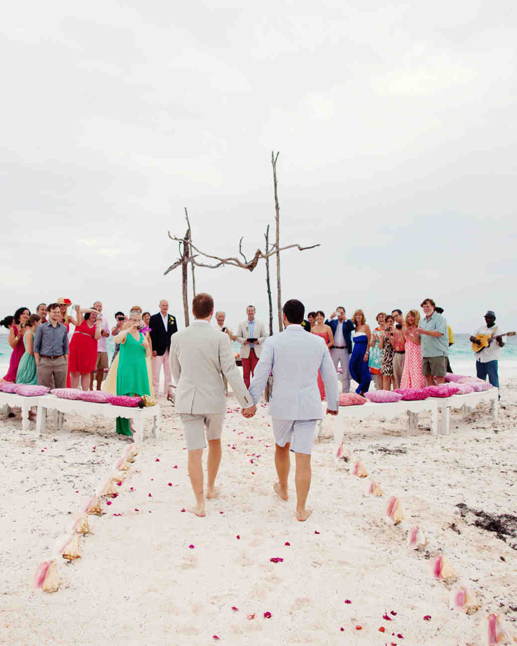 Beach Wedding Ceremony Processional: Your Same-Sex Wedding Etiquette Questions—Answered