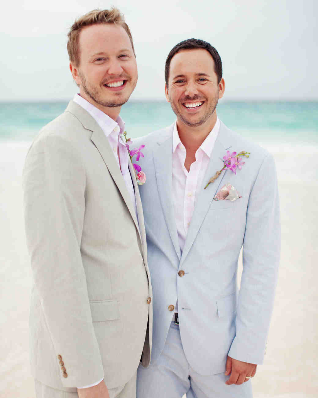 A Coral Colored Beach Wedding In The Bahamas Martha Stewart Weddings