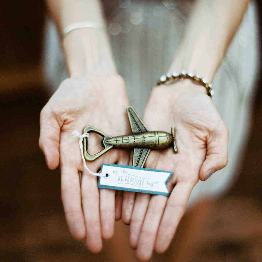 Plane Bottle Opener Wedding Favor