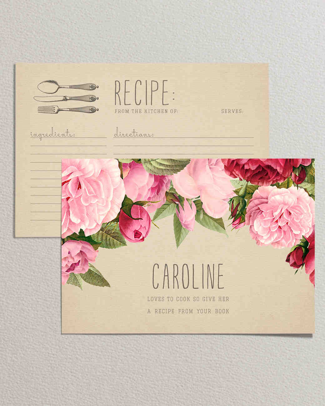 10 recipe cards that are pretty enough to become bridal shower just rosy printable bridal shower recipe filmwisefo