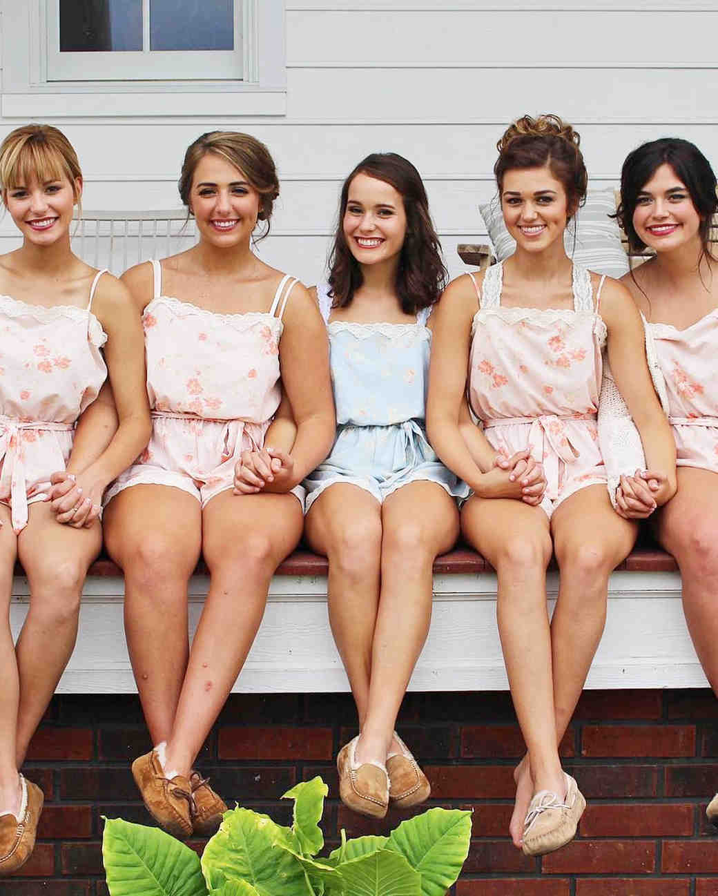 Bridal party rompers