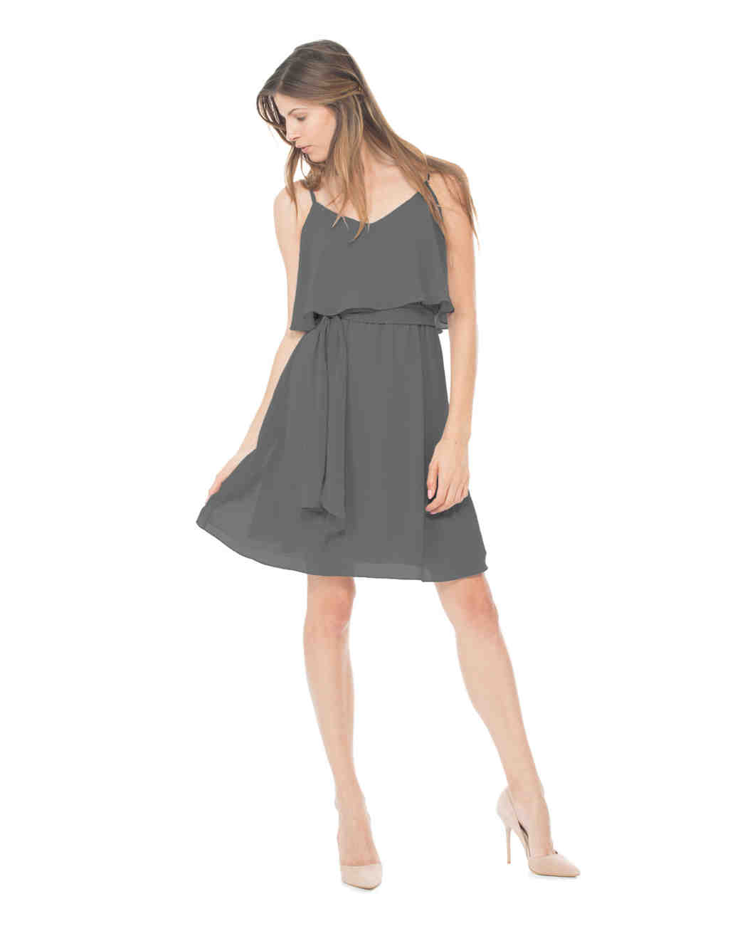 short bridesmaid dresses joanna august gray