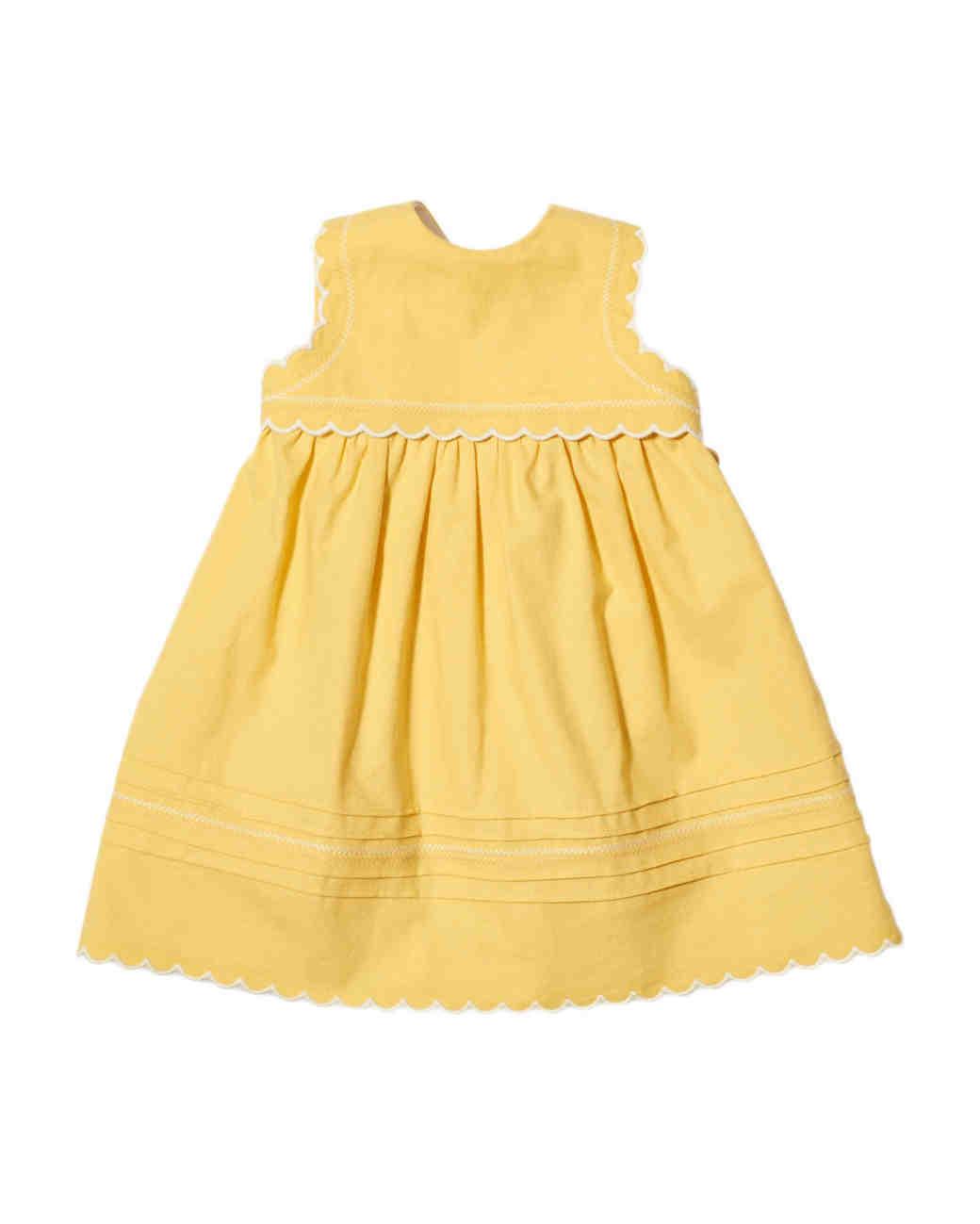 summer flower girl dress yellow