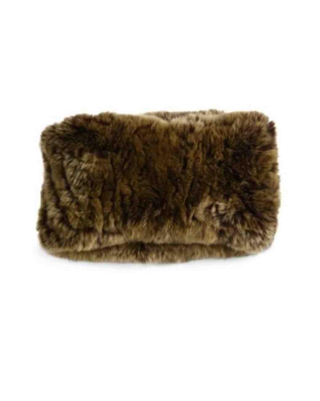 surrel rabbit fur convertible headband