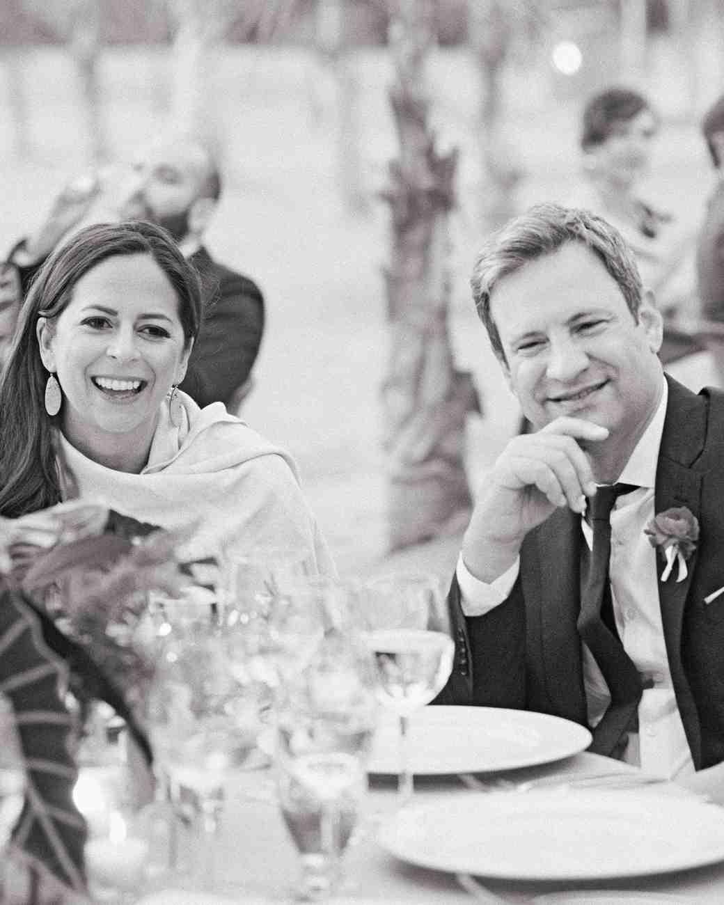 wedding couple listening