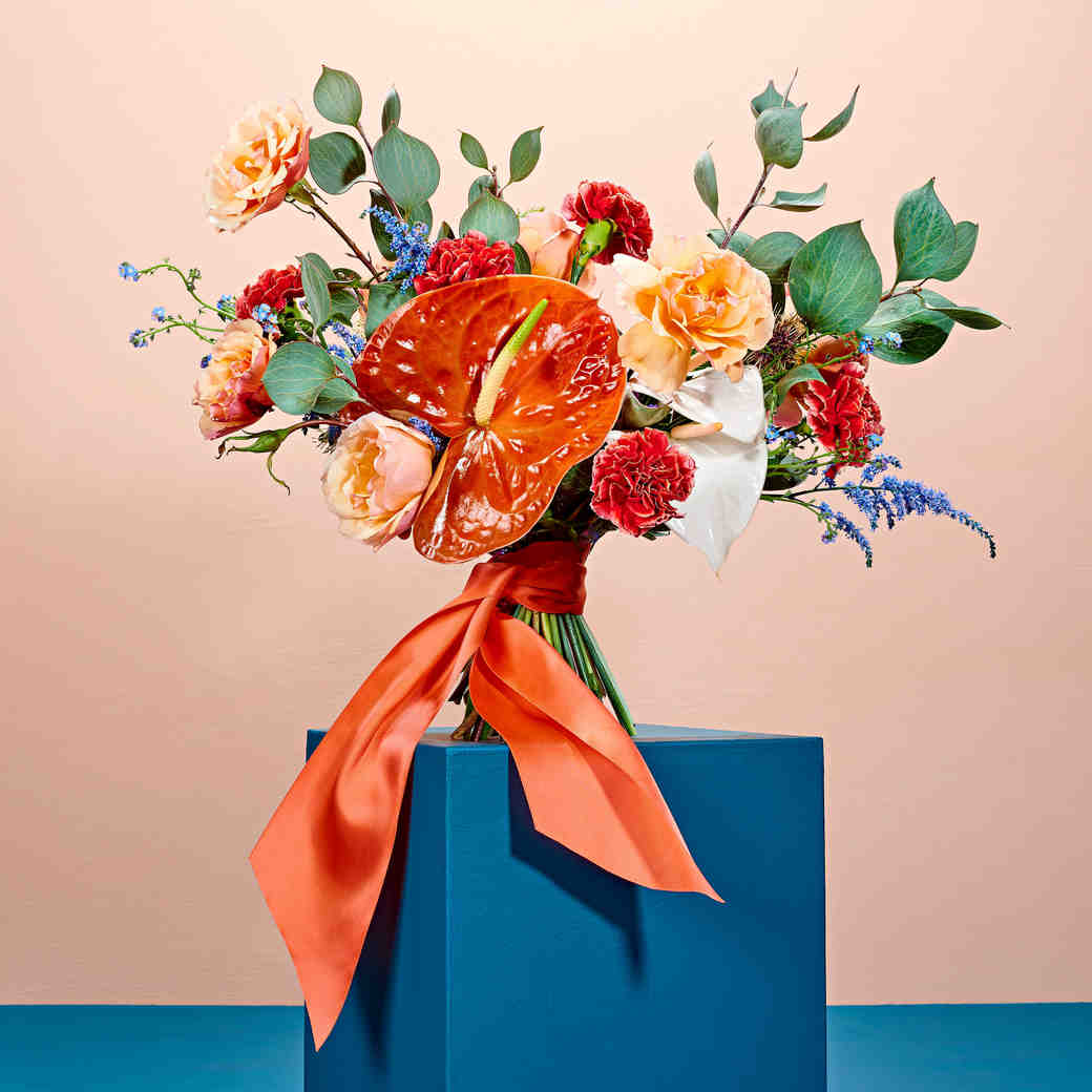 tropical punch floral arrangement