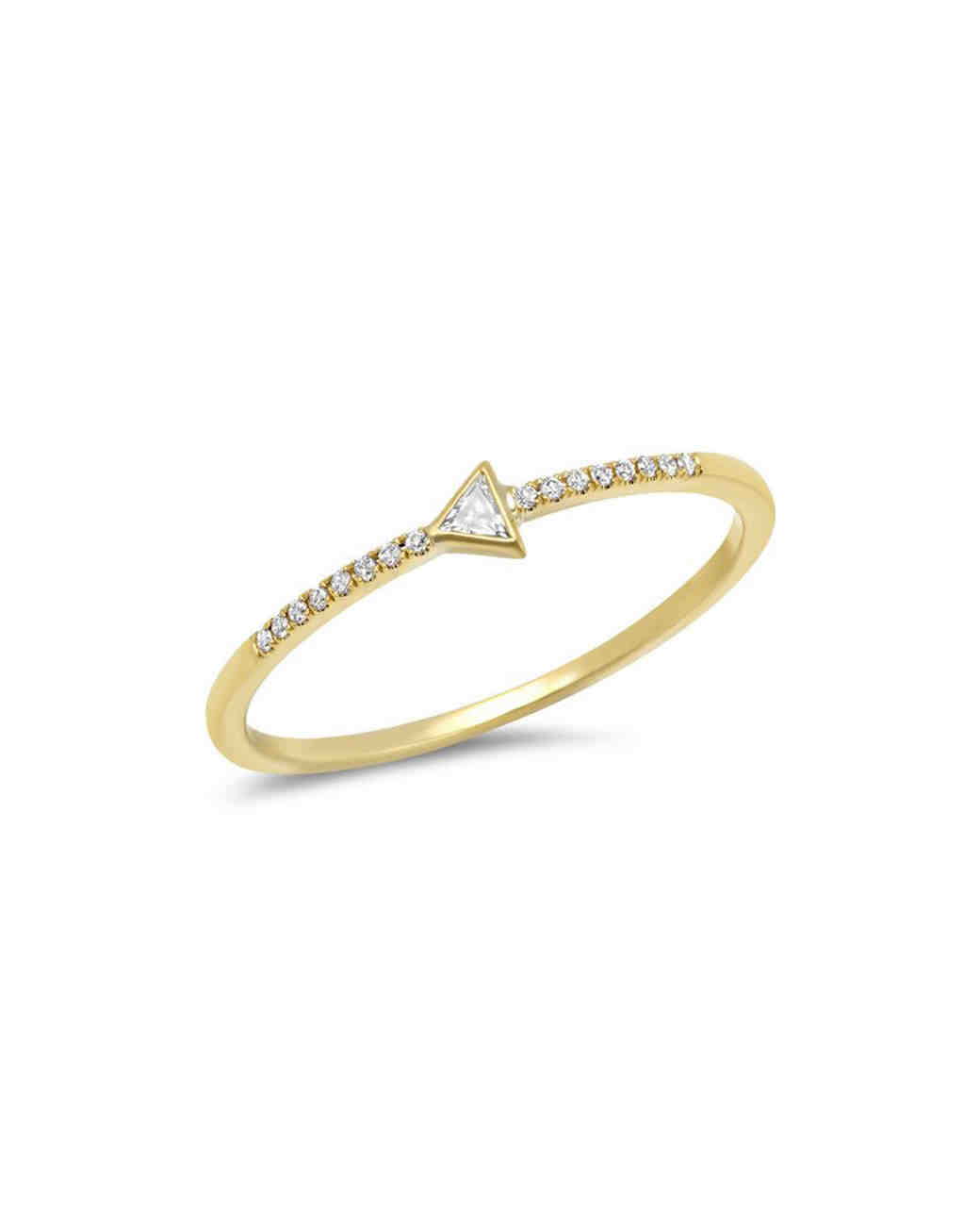 yellow gold set with pavé diamonds engagement ring
