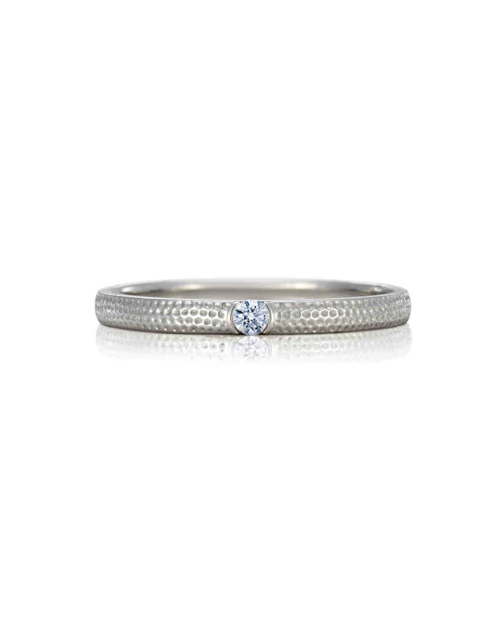 silver wedding band diamond