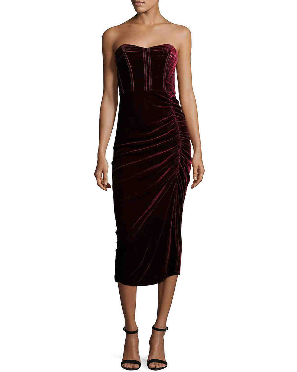 Strapless Funeral Dresses