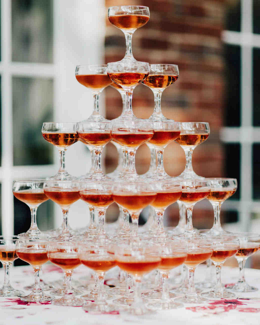 wedding champagne towers five tiered