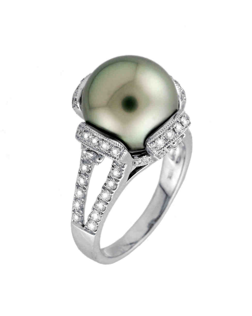 ring engagement rings engagament pearls antique attractive wedding pearl diamond