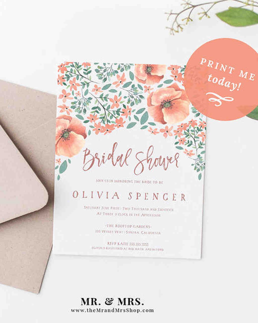 10 affordable bridal shower invitations you can print at home floral invitations filmwisefo