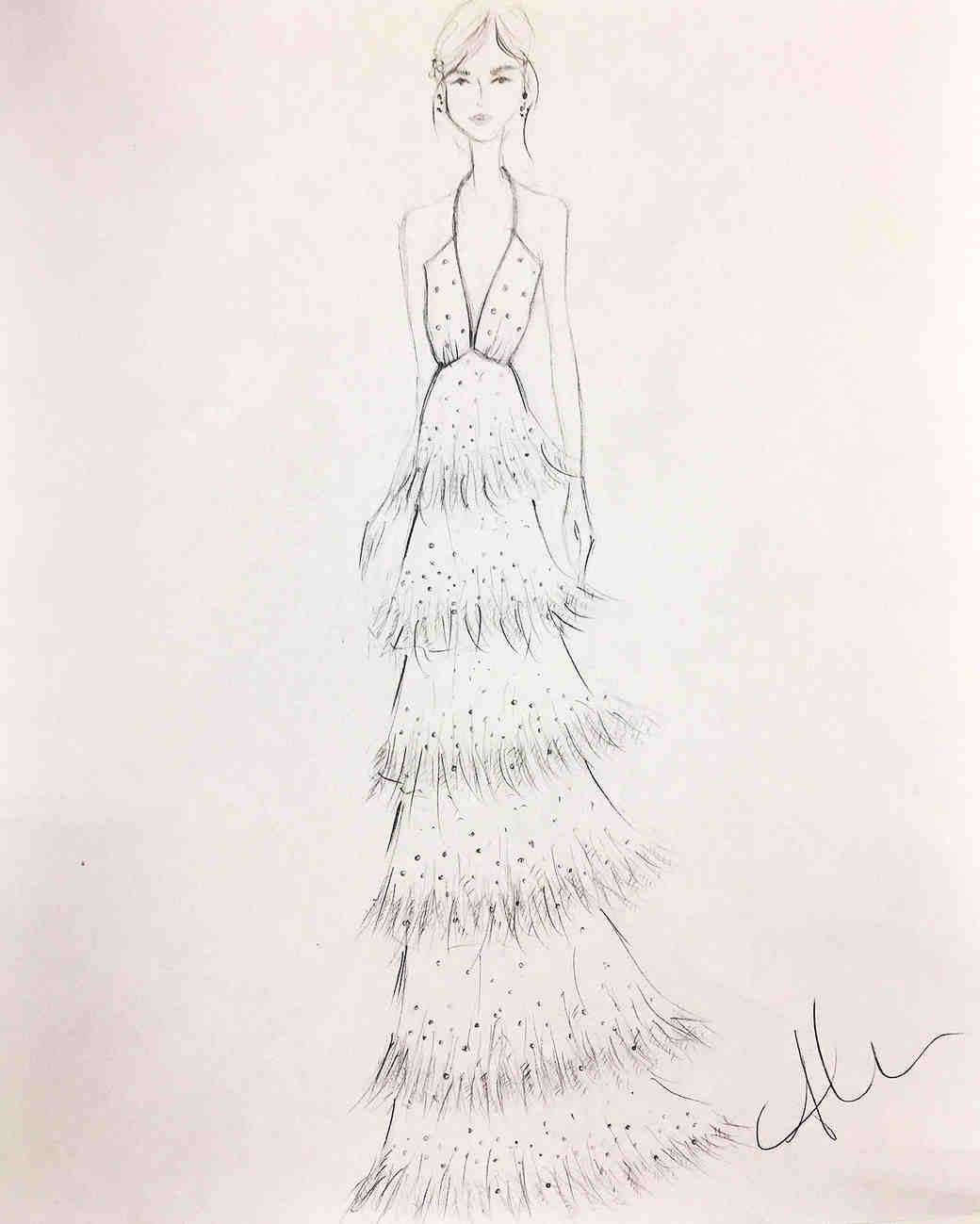 alexandra grecco wedding dress sketch