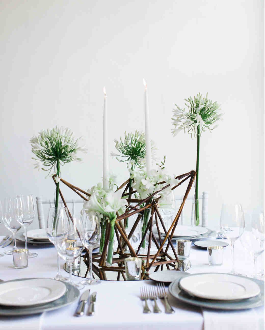 39 simple wedding centerpieces martha stewart weddings for Modern table centerpieces