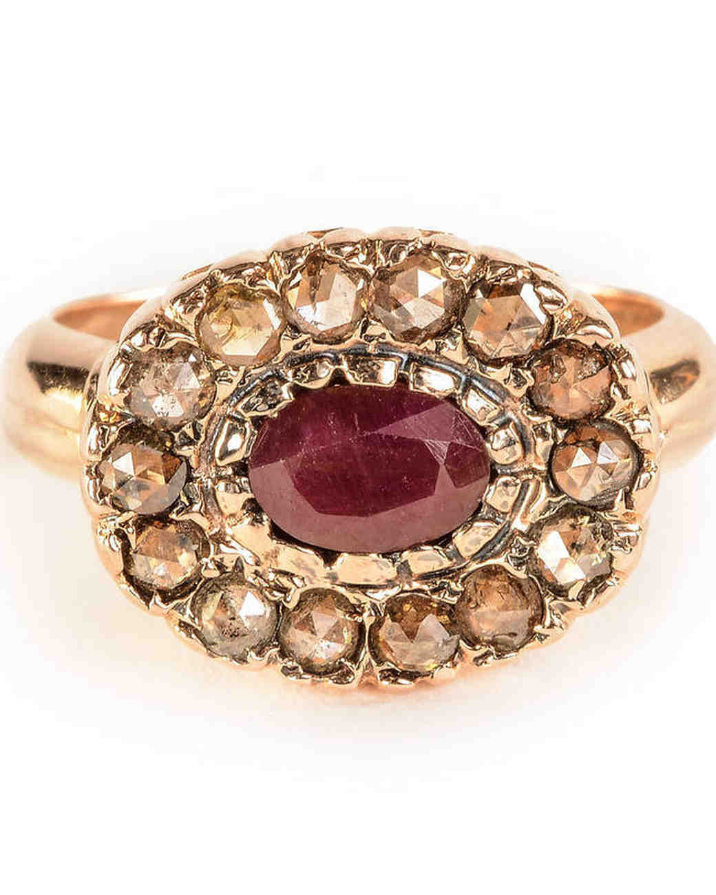 Arik Kastan Sunset Ruby and Diamond Ring