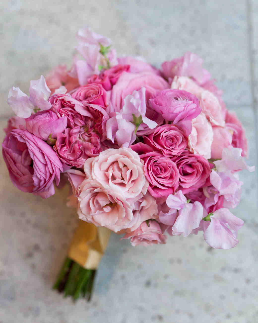Nude Pink Wedding Bouquet Colors Flowers T-8542
