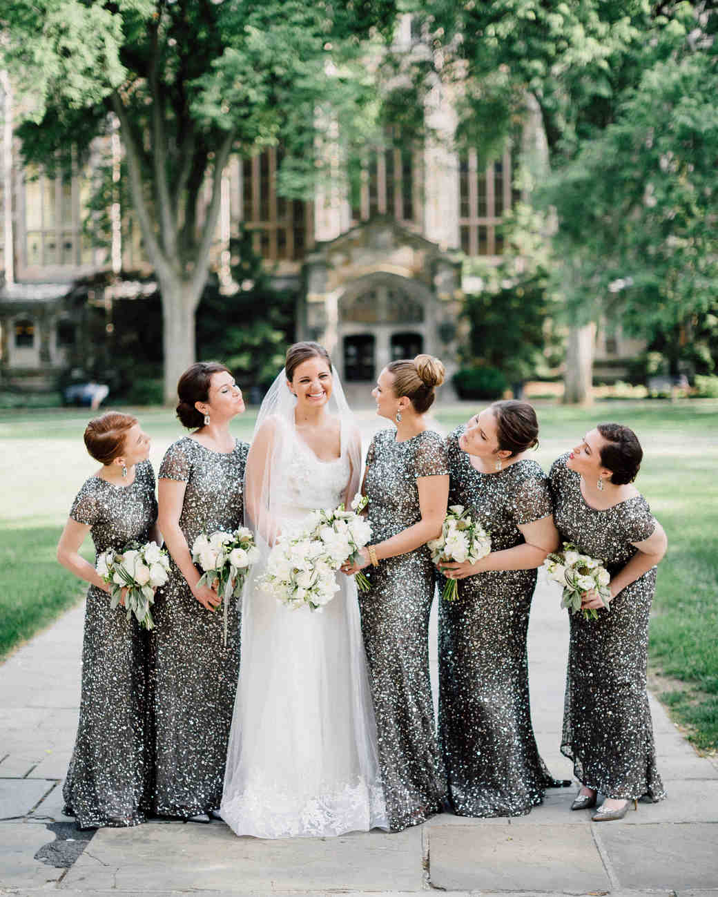 a861dfed7 20 Best-Dressed Bridal Parties from Real Weddings | Martha Stewart ...