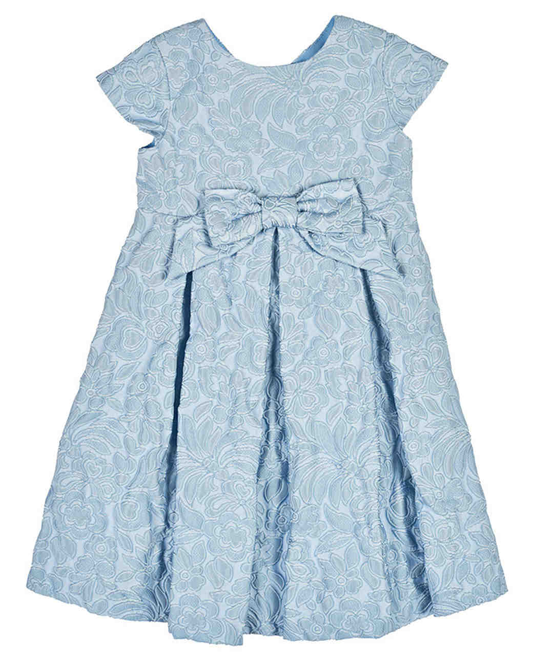 Florence Eiseman Blue Floral Jacquard Dress