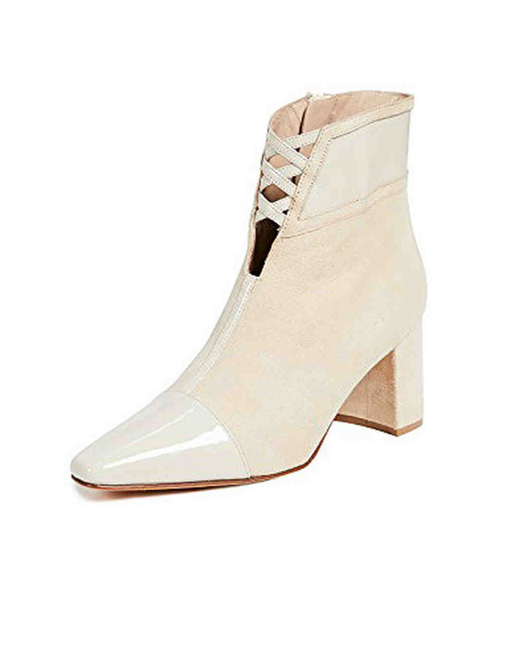 beige bridal booties maryam nassir zadeh moon