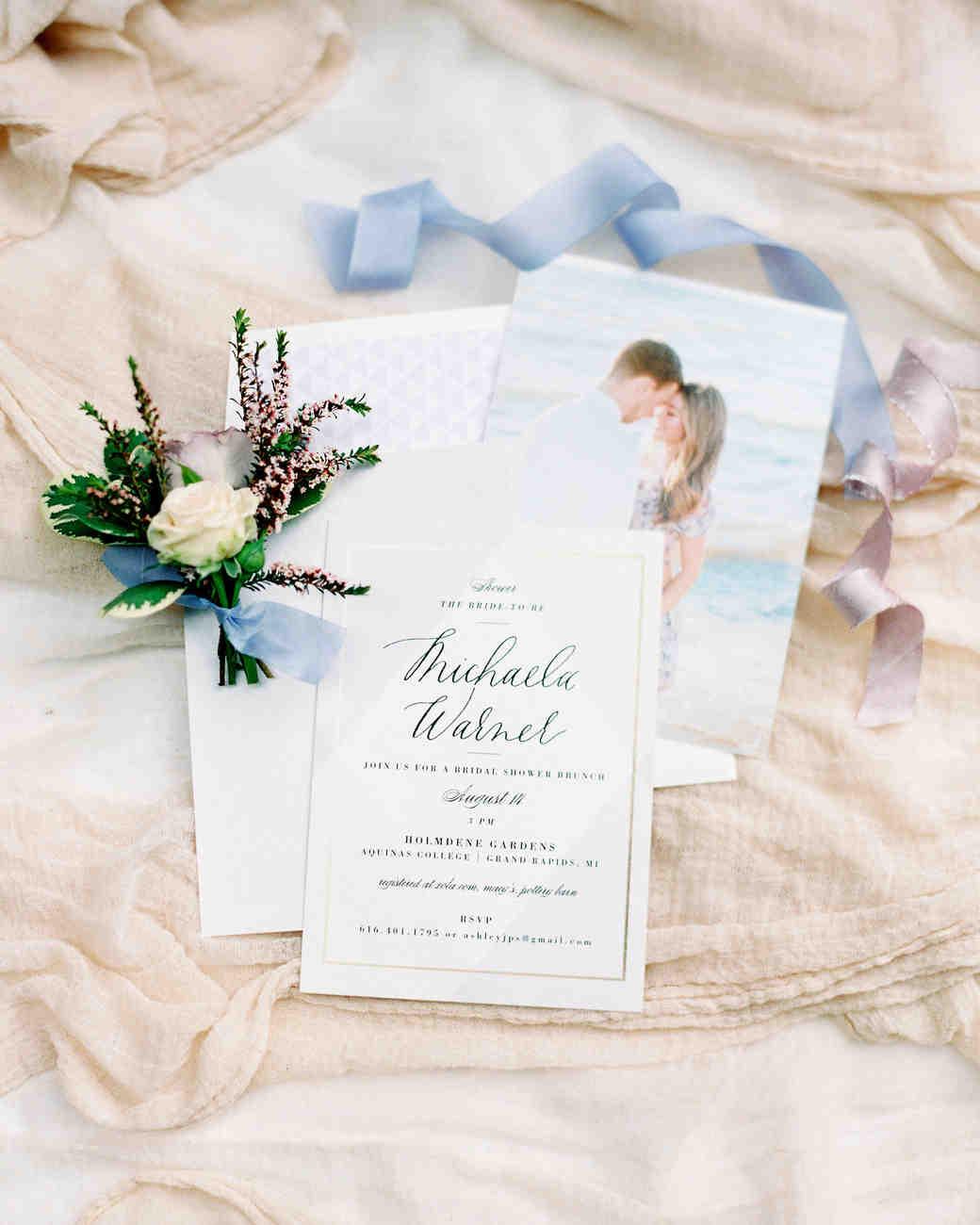 Asian Bridal Invitation Shower