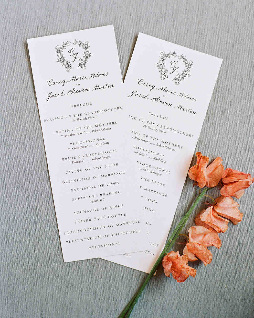 Wedding Programs: 44 Perfect Wedding Ceremony Programs