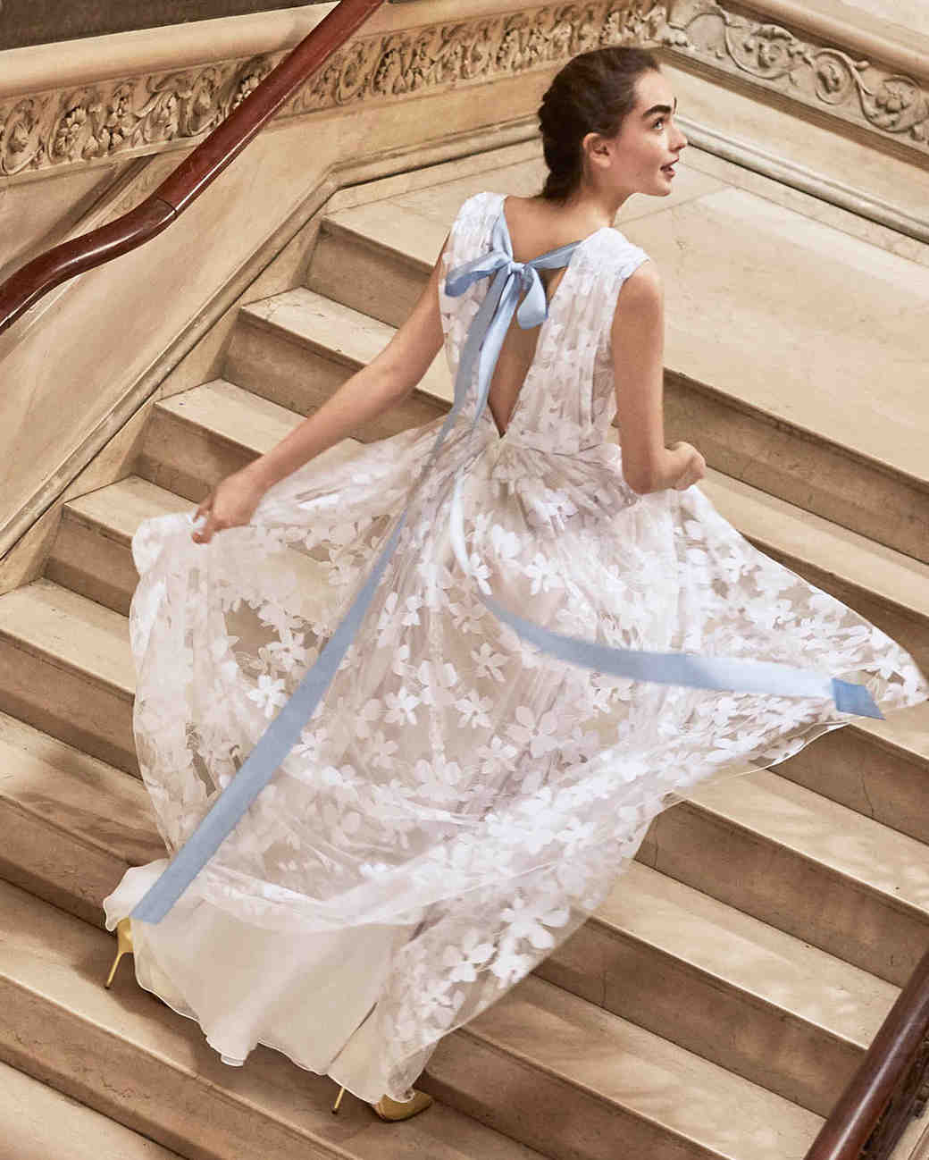 Blue Wedding Dresses 2019: Ultra-Romantic Floral Wedding Dresses
