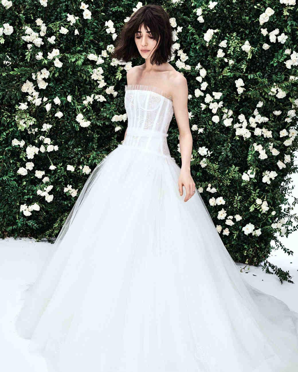 22f3b375f8a4 Carolina Herrera Spring 2020 Wedding Dress Collection   Martha Stewart  Weddings
