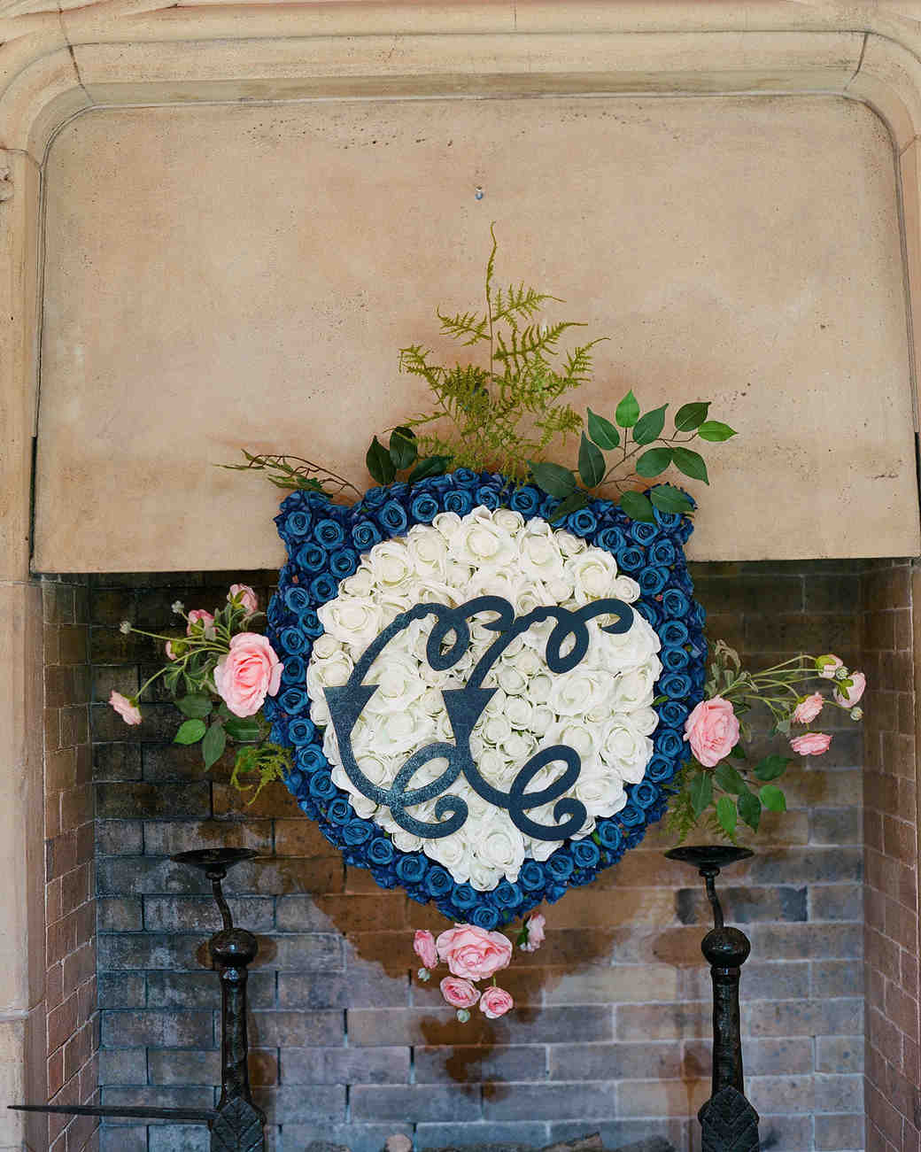 chelsea conor wedding floral crest