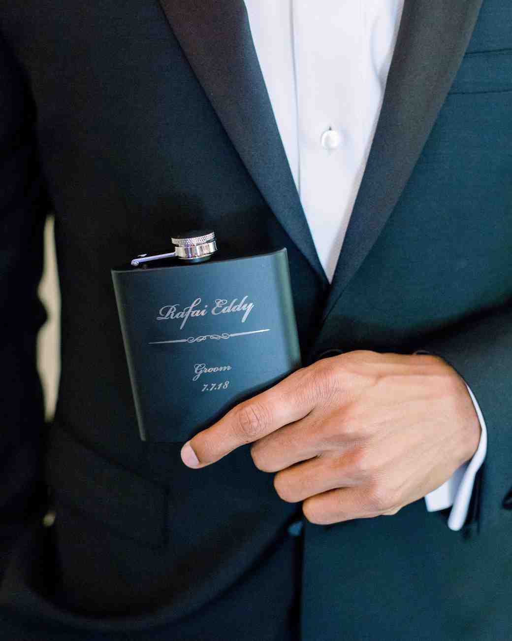 cool groom accessories personalized flask