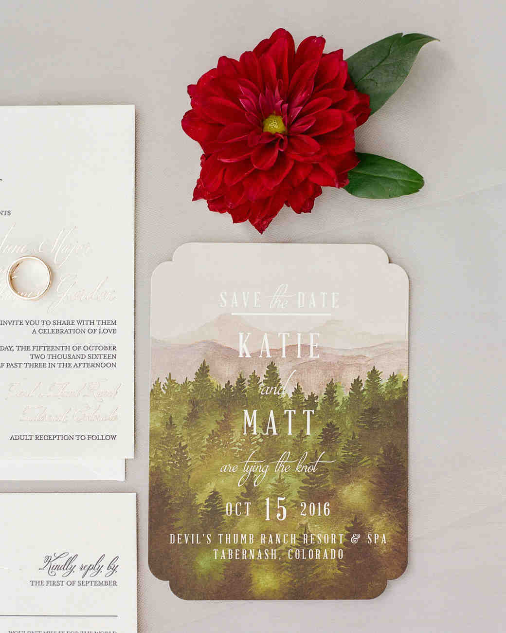 nature themed save the date