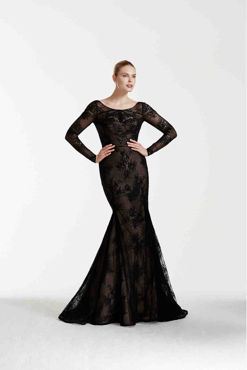 Truly Zac Posen at David's Bridal black wedding dress