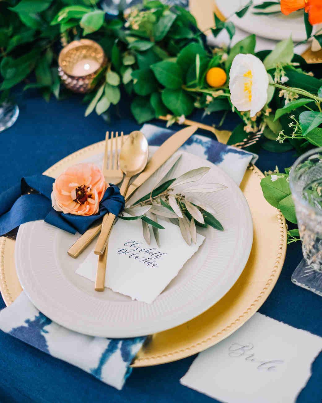 elizabeth jake georgia wedding place setting