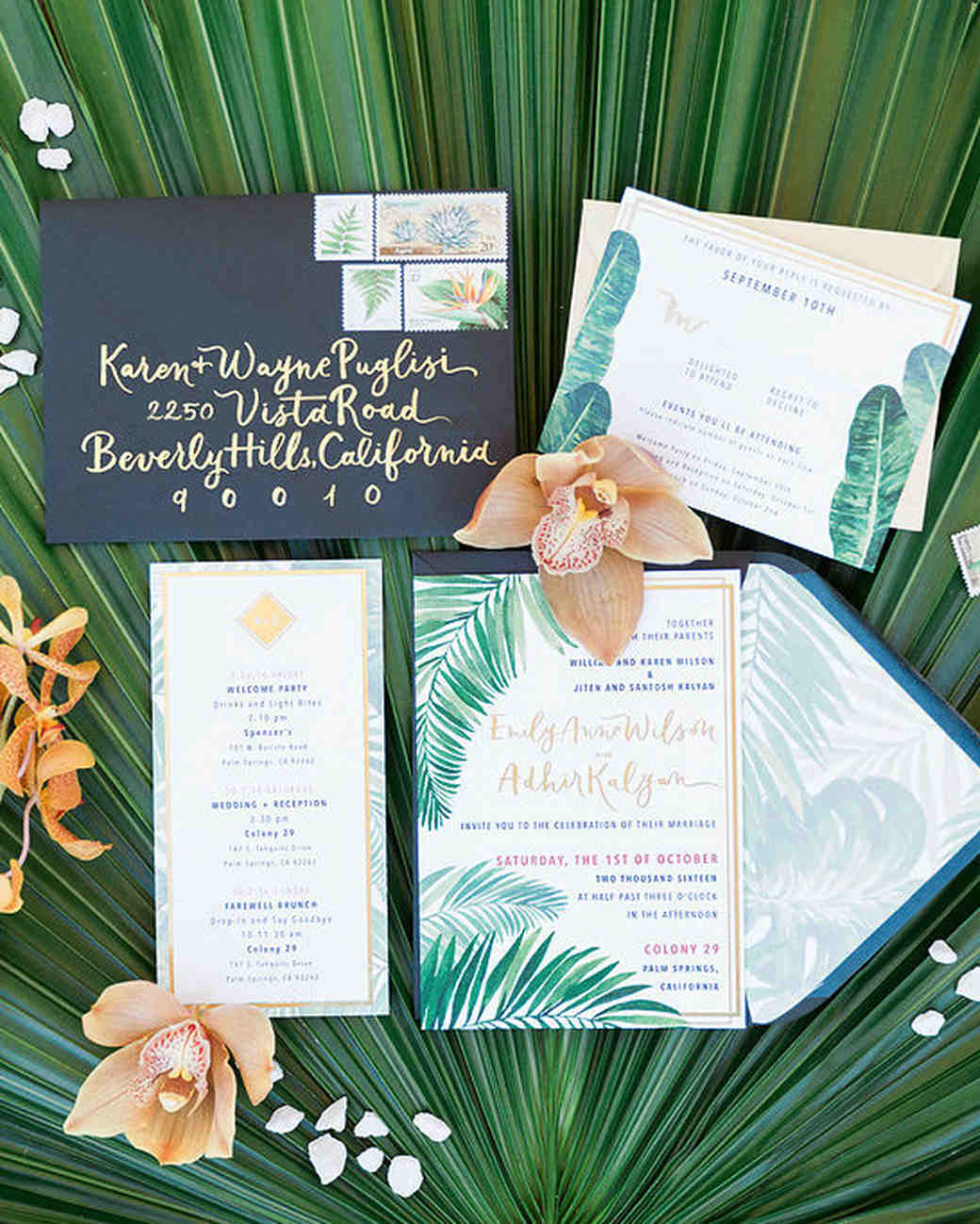 emily adhir wedding invite