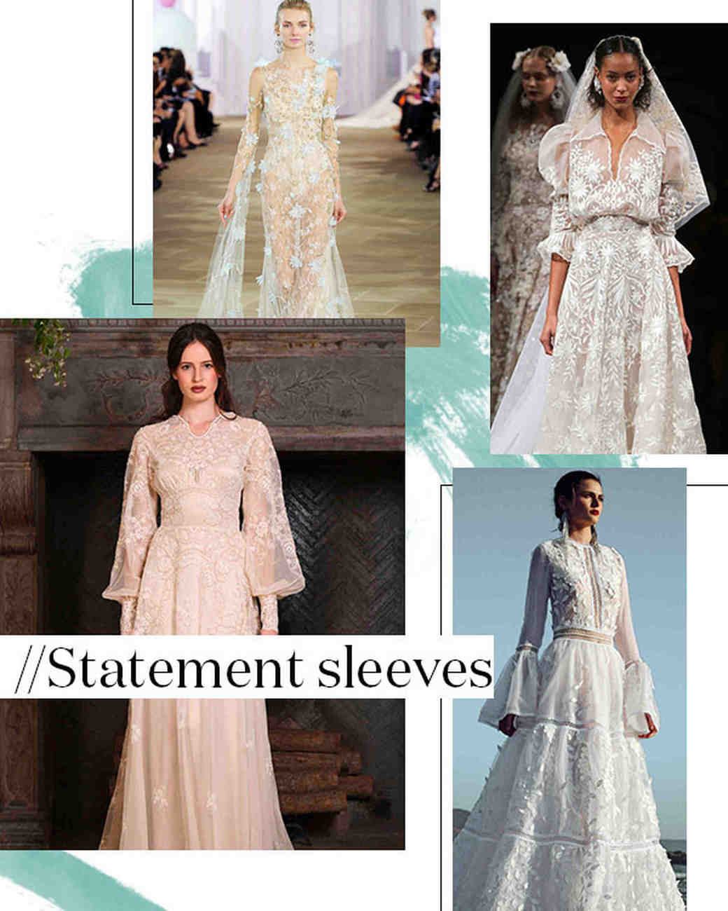 Fall 2017 Wedding Dress Trend: Statement Sleeves