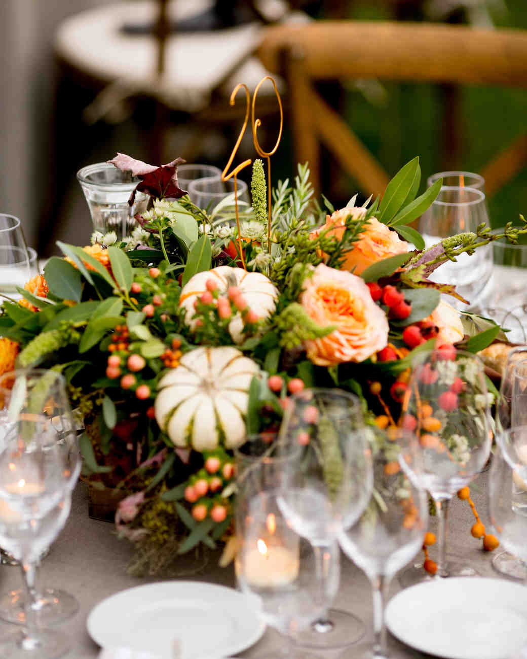 35 wedding centerpieces to steal for your thanksgiving table rh marthastewartweddings com  diy centerpieces for fall wedding