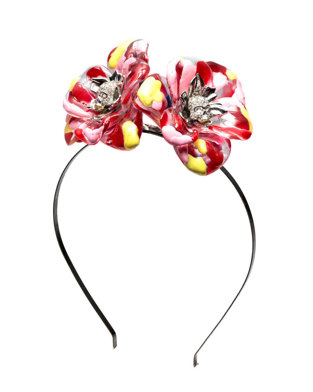 flower crown alternative Alexis Bittar vibrant headband