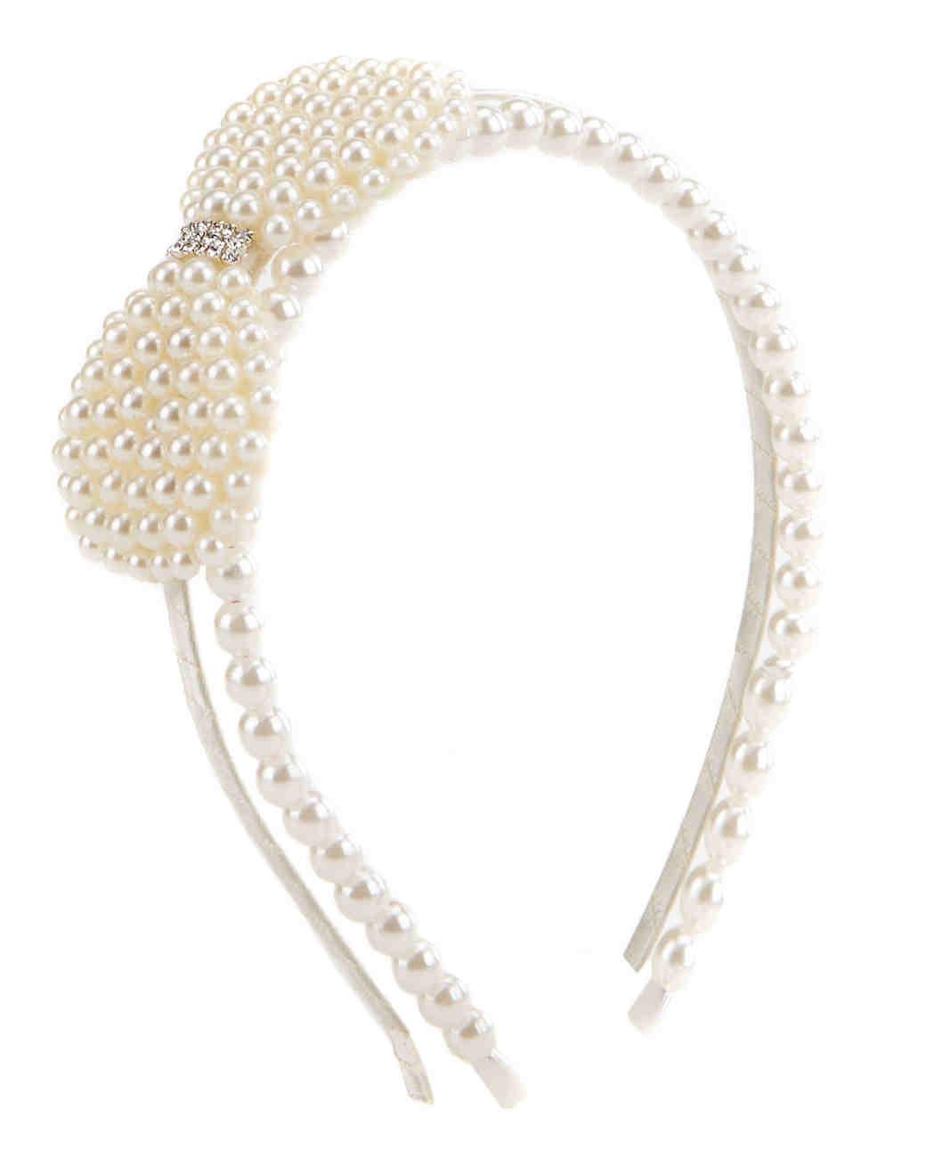 pearl bow headband